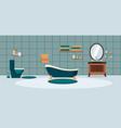 bathroom with furniture bathroom interior vector image vector image