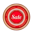 Big red sale label vector image vector image