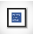 Black frame on the wall for your design vector image vector image