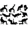 breakdance collection vector image vector image
