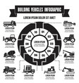 building vehicles infographic simple style vector image vector image