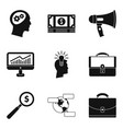 business people icons set simple style vector image vector image