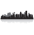Calgary Canada city skyline silhouette vector image vector image