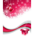 Christmas design with magic gift box vector image vector image