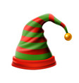 christmas holiday hat3d funky red and green vector image vector image