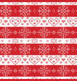 Christmas seamless pattern with stars snowflake vector image vector image