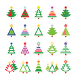 Christmas tree - various types icons set vector image vector image