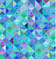 Colorful regular triangle mosaic background vector image vector image