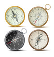 compass set different colored compasses vector image