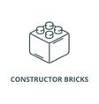constructor bricks line icon constructor vector image