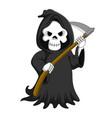 cute cartoon grim reaper with scythe vector image