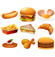 Different kind of fastfood vector image vector image
