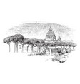 dome of st peters from the janiculan vintage vector image vector image