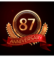 Eighty seven years anniversary celebration with vector image