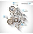 Flat UI design concepts for unique infographics vector image