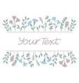 floral frame background vector image vector image
