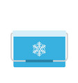 freezer-bag in blue color vector image