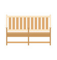 front view wooden park bench flat style bench vector image vector image