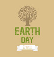 happy earth day postcard vector image vector image
