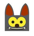 happy halloween cartoon bat avatar vector image vector image