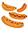 hot dog icon set cartoon style vector image vector image