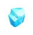 ice crystal blue piece iced floe salt vector image vector image