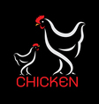 image of an chicken design vector image vector image