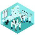 isometric biological science laboratory template vector image vector image