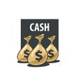 logo bag money vector image