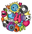 Music party kawaii design Musical instruments vector image vector image