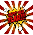 New year Speech comic bubble text yellow vector image vector image