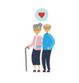 old man and woman couple in love happy family vector image