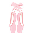 Pink ballet pointe vector image vector image