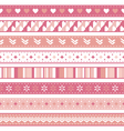 pink ribbons vector image