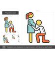 pregnancy line icon vector image vector image