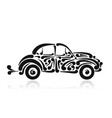 retro car abstract painted silhouette for your vector image vector image