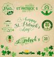 Saint Patricks Day Typographical Set vector image