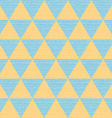 Seamless abstract blue and orange triangles vector image