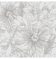 Seamless grey pattern with flowers lily vector image vector image