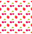 seamless pattern with strawberry and cherry vector image vector image