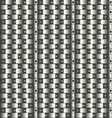 Seamless texture of round steel pipes vector image