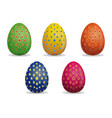 set easter eggs star pattern on easter eggs vector image
