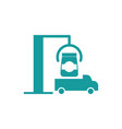 shipment icon truck and goods business finance vector image