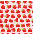 strawberries background vector image