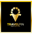 travel sun men place - sunny pin luxury royal vector image vector image