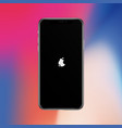 turn on screen smartphone similar to iphon x vector image