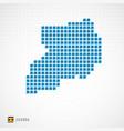 uganda map and flag icon vector image