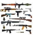 Weapons collection Pistols submachine vector image vector image