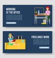working at home and freelance vector image vector image