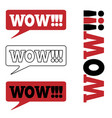 wow message bubble promotional background vector image